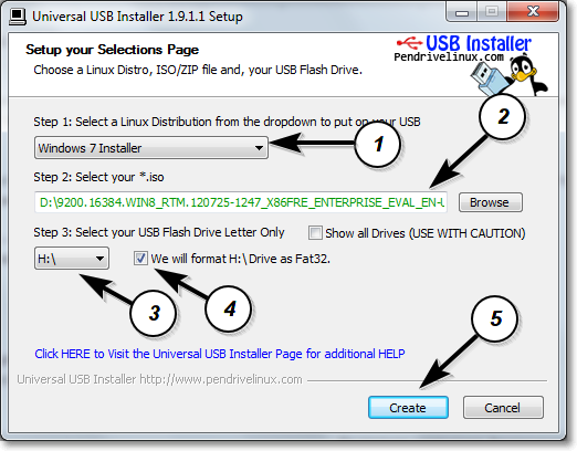 Bootable usb drive creation for Windows Vista/7/8 with few ...