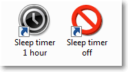 Timer's icons
