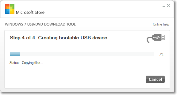 Create USB Boot disk