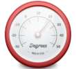 Degrees – an app that  shows current weather in status bar for Mac OS X.